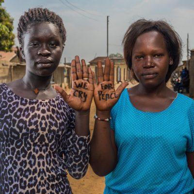 Nunu Gloria Yona, Juba. Nunu, ora a Juba, è stata separata dalla sua famiglia. Non lascia che le avversità la scoraggino e continua a sperare per l'unità e la pace del suo Paese.