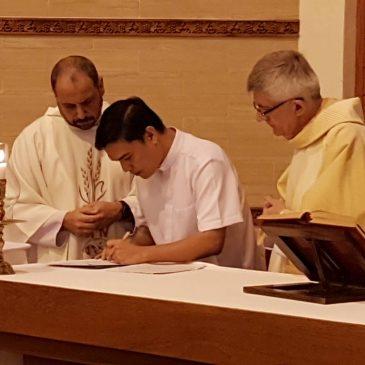 Promessa definitiva di un seminarista del Pime in Thailandia