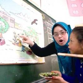 La maestra di Gaza che bacchetta la sindrome di Down
