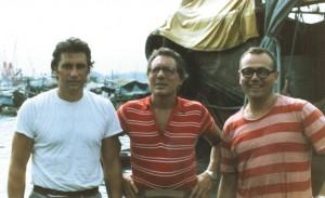 17/8/1986 Jannacci in visita alle barche.