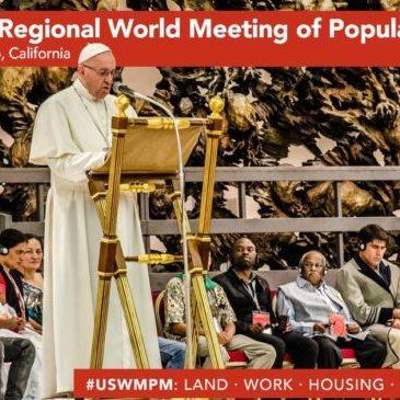 Il Papa ai movimenti popolari Usa: «Nessun popolo è criminale»