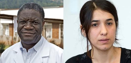 Mukwege e Murad, un Nobel contro lo stupro come arma