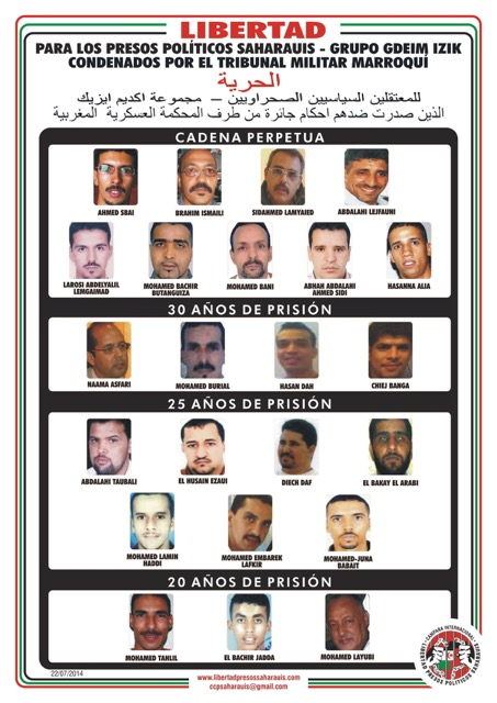 Sahara Occidentale: condannati 23 attivisti sahrawi