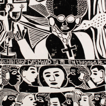 Chiesa africana in bianco e nero