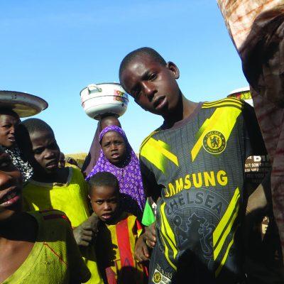 Sfollati camerunesi in fuga da Boko Haram,