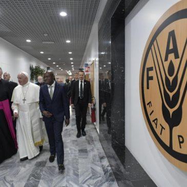 Il Papa alla Fao: «Impegni concreti per sconfiggere la fame»