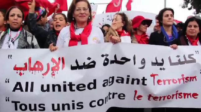 """La società civile a Tunisi: """"Non lasciateci soli"""""""